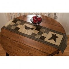 This table runner will add a nice primitive touch to the table of your choice.