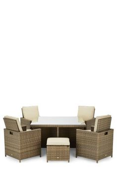 Garden Furniture Next alicante classic cube 4 seats with 4 stools rattan garden