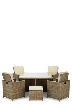 Garden Furniture Next alicante classic cube 4 seats with 4 stools rattan garden