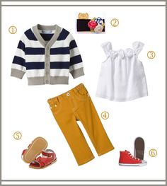 love the yellow pants with the blue & white striped cardigan. need to pick silas up some red converse.