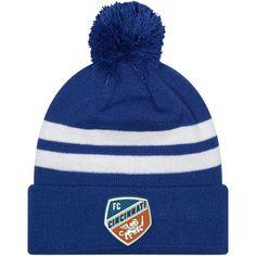 pretty nice b8b38 738cf Men s FC Cincinnati New Era Royal Top Stripe Pom Knit Hat, Your Price    24.99. MLS Caps   Hats