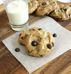 Flourless Peanut Butter and Banana Chocolate Chip Cookies (Gluten Free, Dairy Free)