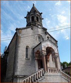 L'église saint Symphorien . Illiat. Ain. Rhône-Alpes