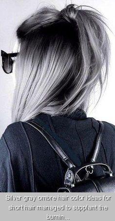 Grey Ombre Hair, Dyed Hair Purple, Hair Color Balayage, Blonde Color, Ombre Color, Gorgeous Hair Color, Dull Hair, Brown Hair Colors, Short Hair Styles