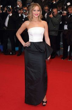 Jennifer Lawrence wearing Christian Dior. See the latest from the Cannes Film Festival 2013 red carpet.