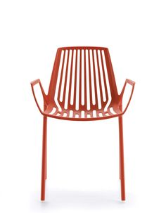RION collection. Armchair Coral Red / Poltrona Rosso Corallo. FAST IN_OUT_ALUMINIUM
