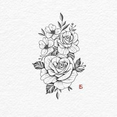 It is a morning with coffee and roses roses. ,,, _________________… Rosen tattoo – flower tattoos – diy tattoo images – tattoos for women meaningful Mini Tattoos, Body Art Tattoos, Small Tattoos, Tatoos, Floral Tattoo Design, Flower Tattoo Designs, Tatto Designs, Tattoo Floral, Henne Tattoo