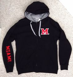 NEW$55 Comfy MIAMI OHIO REDHAWKS ZIP HOODIE Sweatshirt-Jacket University MEN LRG #E5 #MiamiUniversityRedHawks