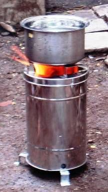 The Sampada Gasifier Stove is made by Samuchit Enviro Tech in Pune, India.