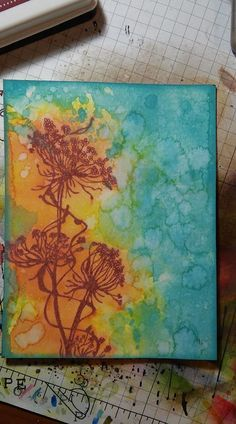Had a play with the Distress Oxides. Unity Stamp Co. shares quick tip videos every day, and this was o...
