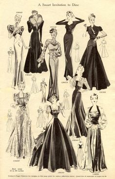 Fashion sketches vintage evening gowns ideas for 2019 1930s Fashion, Fashion Art, Retro Fashion, Vintage Fashion, Fashion Design, Fashion Ideas, Fashion Glamour, French Fashion, Fashion Fashion