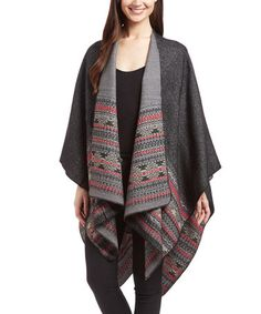 Another great find on #zulily! Black & Red Geometric Shawl #zulilyfinds