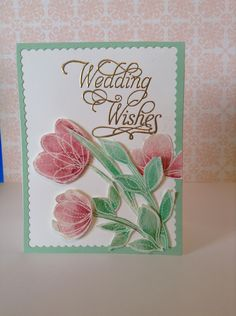 Wedding card elegant simon says stamp spring flowers stamps card by Melodie