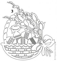 Basket of eggs paper cutting pattern Kirigami, Paper Cutting Patterns, Iris Folding, Quilling Patterns, Easter Wreaths, Punch Art, Scroll Saw, Paper Cards, Easter Baskets