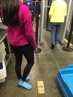 No going bare foot for this girl! JellyFeet are perfect for going through TSA security checks at the airport!