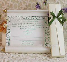 SC006---scroll wedding invitations card