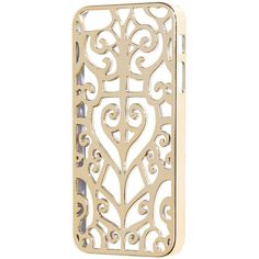 H&M iPhone 5/5s case ($11) ❤ liked on Polyvore featuring accessories, tech accessories, gold and h&m
