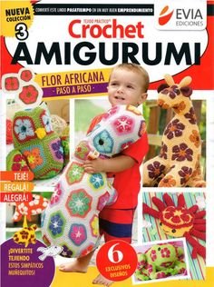 Materiales gráficos Gaby: Amigurumi con flor africana paso a paso y patrones