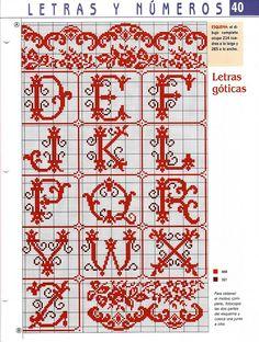 Cross-stitch Alphabets with Scrollwork, part 2...    Gallery.ru / Фото #82 - Алфавиты - livadika