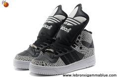 Latest Listing Cheap Adidas X Jeremy Scott Big Tongue Villi Shoes Carton Black Fashion Shoes Shop