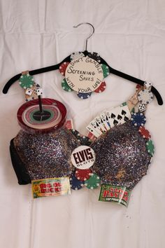 CR Bras (for the cause). Breast Cancer Bras, Breast Cancer Awareness, Bra Ha Ha, Decorated Bras, Fundraising, Women's Ministry, Casino Theme, Burlesque, Superstar