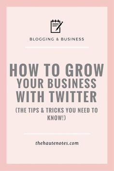 How to Grow Your Business with Twitter - In order to truly grow your business with Twitter, you need to make sure you're adding value to the lives of the people in your target market. Focus on providing high-quality, valuable content at all times. That's the key to getting people to follow you and actually stick aro