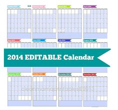 2014 EDITABLE Banner Planner or Binder by CleanMamaPrintables