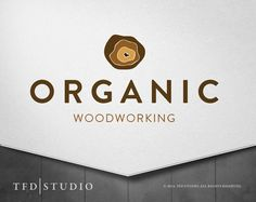 Professionally designed woodcraft woodworking logo by TFDstudio