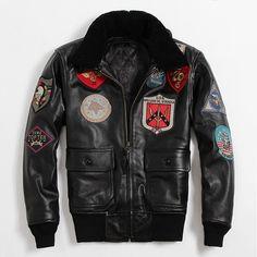 b11f128b R$ 1718.38  Aliexpress.com: Compre Especial Hot Fly Clássicos Genuínos de  Couro Da Motocicleta dos homens Jaqueta de Couro Da Força Aérea Jaqueta de  Tom ...