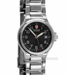 New VICTORINOX Swiss Army Ladies Watch Peak II, Black Face Dial, Date, $220msrp