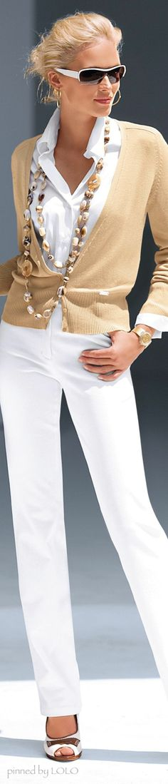 White and Taupe Fashion