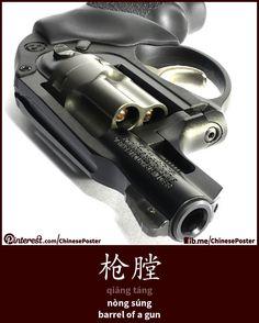 枪膛 - qiāng táng - nòng súng - barrel of a gun