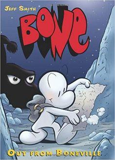 "Read ""Bone Out From Boneville"" by Jeff Smith available from Rakuten Kobo. The three Bone cousins — Fone Bone, Phoney Bone, and Smiley Bone — are separated and lost in a vast, uncharted desert. Kung Fu Panda, Neil Gaiman, Bone Jeff Smith, Fone Bone, Silvester Trip, Bone Comic, Bones Series, Bone Books, Mystery"