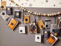 DIY calendrier de l'avent Les étoiles grises