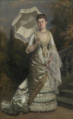 Princess Beatrice c.1883 by Carl Rudolf Sohn, commissioned by Queen Victoria and painted not long before Beatrice married Prince Henry of Battenberg (Royal Collection)