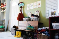 charming, vintage style entryway