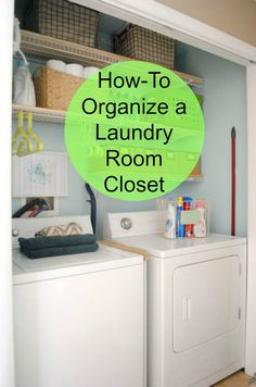 Even when your laundry room is a closet you can organize it and make the most of the space you have.  http://www.hometalk.com/l/wll