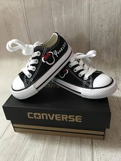 8c8771faaad8 Adorable Minnie mouse glitter bow Shoes - personalized chuck taylors - customized  converse - Mickey Disney - Birthday swag low top converse