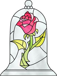Find the desired and make your own gallery using pin. Red Rose clipart beauty and the beast rose - pin to your gallery. Explore what was found for the red rose clipart beauty and the beast rose Disney Stained Glass, Stained Glass Rose, Stained Glass Patterns, Stained Glass Tattoo, Beauty And The Beast Drawing, Disney Beauty And The Beast, Beauty And The Beast Rose Tattoo, Beauty And The Beast Crafts, Beauty Beast