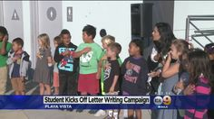 KCAL News: A 6-year-old boy at Playa Vista Elementary School kicked off a letter writing campaign to troops serving overseas. Elsa Ramon reports.
