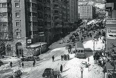 La calle de Balmes, nevada, en diciembre de 1962.