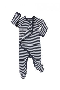 Bonds Yacht Navy Stripe Footed Coverall PJs