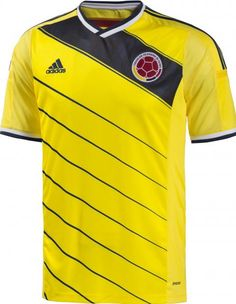 6087f7a52 Colombia 2014 Home Shirt Colombia Football, Adidas Colombia, Goal Colombia,  World Cup Kits