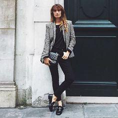 Parlez-vous Khaite? Last night in Paris @carolinedemaigret wore @khaite_ny Kassandra jeans. Pre-order yours today at theline.com. #khaitejeans