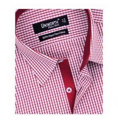 Red & White Check Dress Shirt