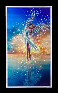 Imagem faz Dançarino Água Pintura Original - EM CADA hum de nos E hum Espírito Brilhante de e Sem Limites