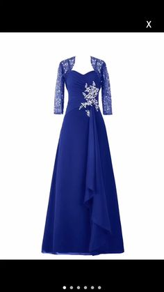 Diyouth Long Asymmetric Lace Flower Sleeves Mother of the Bride Dress Royal Blue Size 2 Prom Dresses 2015, Wedding Party Dresses, Evening Dresses, Bridesmaid Dresses, Bride Dresses, Prom Gowns, Donia, Royal Blue Dresses, Blue Dresses For Women