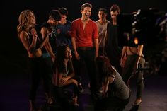 "Jeremy Jordan and the ""Hit List"" dancers #Smash"