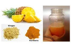 The turmeric, pineapple, ginger and lemon are the best items for inflammation and tumor removal. It cannot be enough well put that these are really healthy and make you better overall. THESE ARE THEIR BENEFITS: LEMON It has citric acid and this dissolves kidney stones. Studies proved the lemon has 22 items to fight cancer...