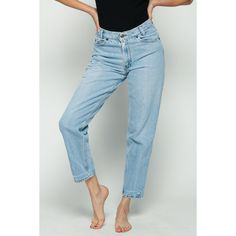 Levis Jeans MOM High Waist Jeans 80s Jeans Straight Leg Levi Denim... ($47) ❤ liked on Polyvore featuring jeans, straight leg jeans, baggy jeans, high waisted jeans, vintage jeans and high-waisted jeans
